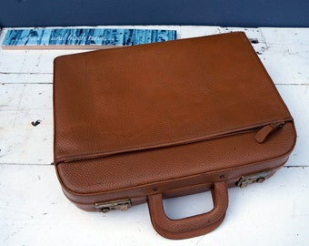 Beautiful vintage leather suitcase