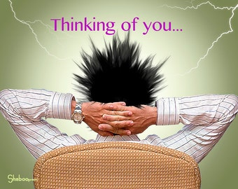 Unique Thinking Of You Card: Electric Goodness