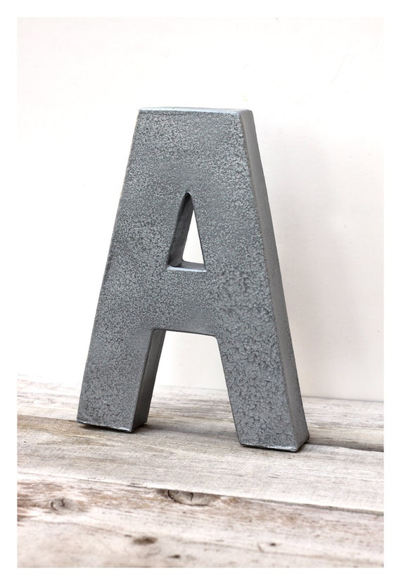 items similar to 12 metal letters faux hammered steel you choose letter on etsy