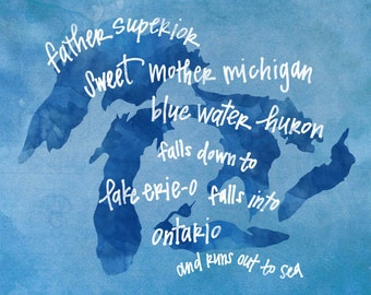 Great Lakes print