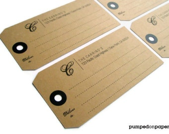 personalized shipping tag mailing labels - set of 12