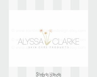 OOAK Premade Logo Design - Skin Care Flowers - Perfect for a skin care and cosmetics brand