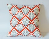 Graphic red chevron ,Pillow cover--decorative pillow--throw pillow--18x18 inches