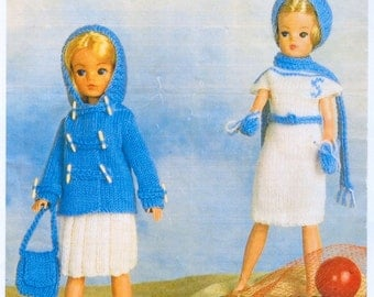 PDF Vintage Knitting Patterns in 4 ply for Sindy/Barbie Doll