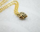 Bronze Gold Heart Charm N...