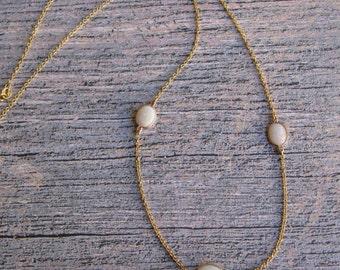 Australian Fiery Opal Necklace in 14K Gold
