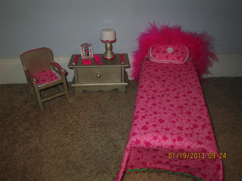 ooak handmade barbie bedroom furniture by dynamitedawn on etsy