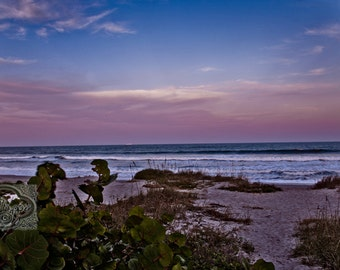 Sunset Seaside Coastal Beach - Fine Art Photograph Print Picture