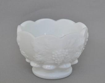 Vintage Milk Glass Dish, Panel Grape, Westmoreland.
