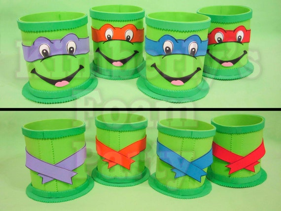 4 ninja turtle centerpieces for Tmnt decorations