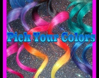 Human Hair Extensions, Hair Colored Custom, 1oakhair, high quality, professionally colored, sample size