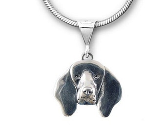 Sterling Silver Coonhound Pendant