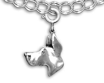 Sterling Silver Great Dane Charm