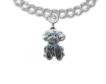 Sterling Silver Lhasa Apso Charm