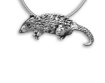 SS Possum Large Pendant