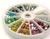 Rhinestone Wheel with Assorted Color flat back crystal 1200pcs Supreme Quality