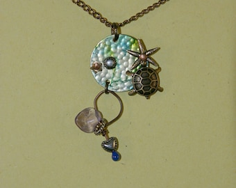 Amethyst, Turtle, Starfish, Heart Necklace
