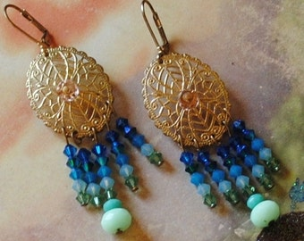 Ocean shades filagree earrings