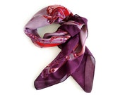 Vintage Italian Scarf ,antique car motif ,Mother's Day Gift. - millyscollection