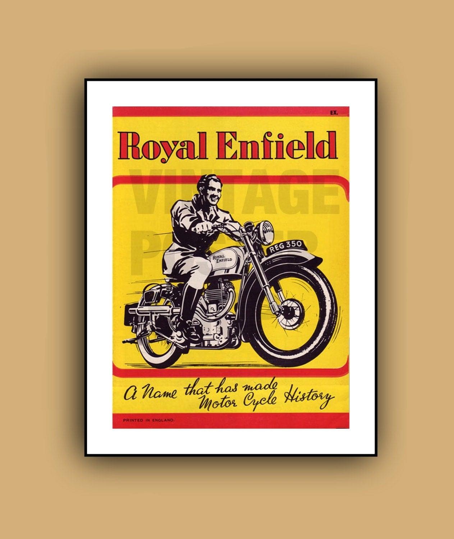 Vintage Motorcycle Advertising Posters Vintage Advertising Poster