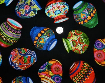 Fiesta Playful Pottery - Fabric By The Yard