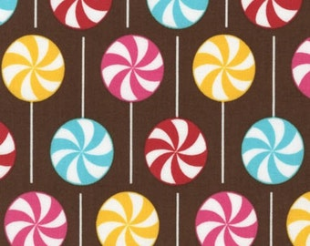 Dessert Party Lollipops - Fabric By The Half Yard 18 inches x 42 inches