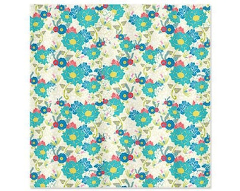 "Shower Curtain - ""CocoBlooms""  70""x74"" (eyelets are not standard size)"