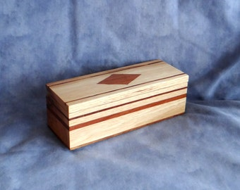 Hickory with Inlaid Koa Keepsake / Jewelry box