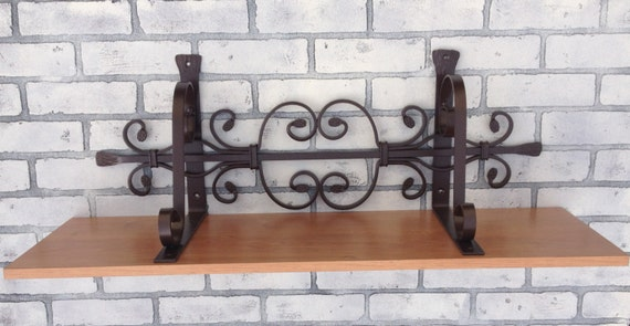 Items Similar To Wrought Iron Shelf Decorative Wall Decor