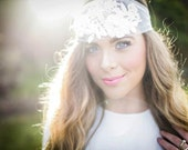 Anna - Tulle Lace Pearl Headpiece
