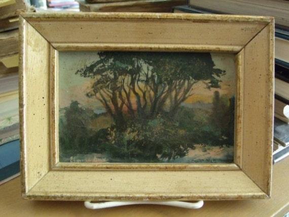 "Elnora Day - ""Beech Grove"" Original Oil Painting - Beech Grove, Indiana - Beech Grove Art Fair - 1977"