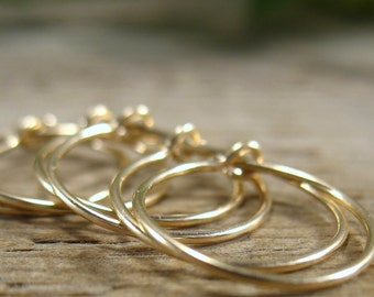 Plain Gold Filled Hoops 5 Pairs R1140 Gold Wine Charm Wires/Wine Charms Hoop/Hoop Earrings/Wholesale Hoops/Add a Charm Wires/Create Your Own