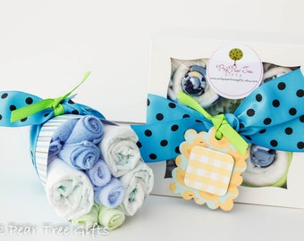 baby boy gift set baby shower gift w baby bouquet oneise cupcakes