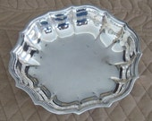 Vintage Chippendale International Silverplate Small Bowl For Nuts, Candy, Dip, Trinkets