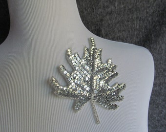 Sequin Leaf / Leaf Applique / Applique
