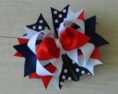Red, White and Blue Boutique Bow