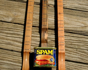 SPAMJO Canjo Cigarbox Guitar Banjo Dulcimer ... Made in Tennessee ... Amazing One String Wonder