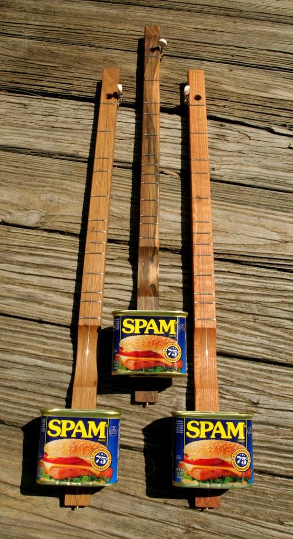 SPAMJO Canjo Cigarbox Guitar Banjo Dulcimer ... Made in Tennessee ... Amazing One String Wonder