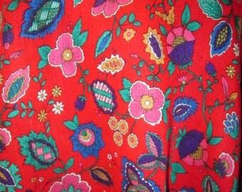 Vintage 1970's Gorgeous Bright Floral Scarf