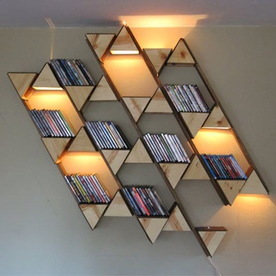 items similar to hex shelf lighting on etsy. Black Bedroom Furniture Sets. Home Design Ideas