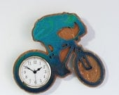 Cycling Clock Dawn and Dusk Blue Green Sand