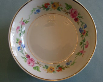 Syracuse China Old Ivory Virginia Shape - Cliftondale Pattern - Fruit Berry Sauce Bowls - Set of 5