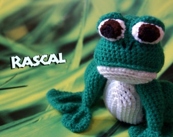 Rascal the Frog - Crochet Amigurumi Stuffed Animal