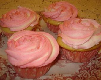 Rose Swirl Buttercream  Cupcakes - 2 Dozen