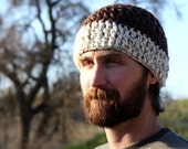 Brown Crochet Hat - Man or Woman hat crochet
