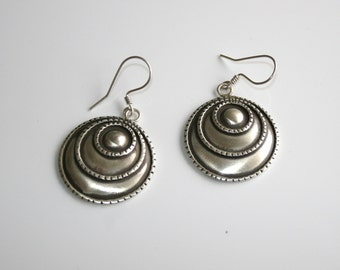 Antique style crescent earrings