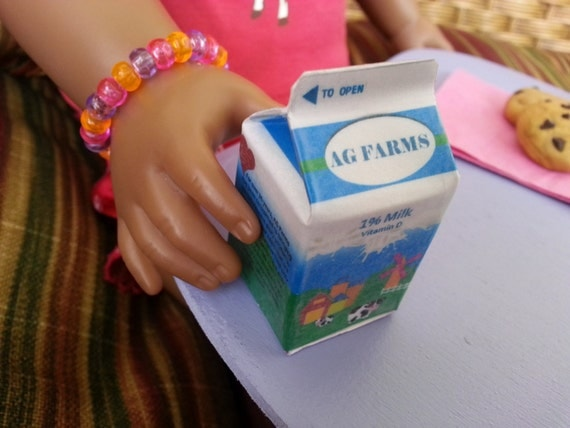 American Girl Food Milk Carton