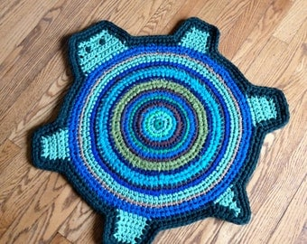 Turtle Rag Rug -- Custom Made in Colors of Your Choice