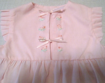 Baby dress, Pink Dress for Babies, Pink Cotton Dress, Infant Dress, Baby Girl Dress, Embroidered baby Dress,