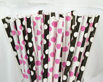 RockStar Princess Paper Straws- Party  RocKnRoll Black  Poison Pink  80s Music Disney RocK, Mad Hatter ,  Pat Benatar, Miley , Zoe